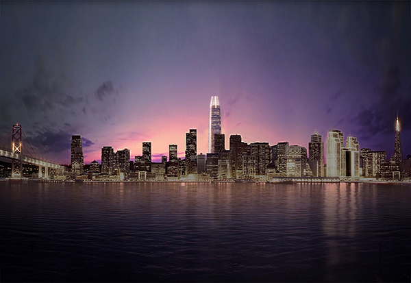 city-evening-view